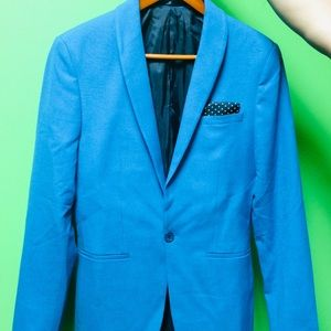 Super Skinny Suit jacket in sky blue.